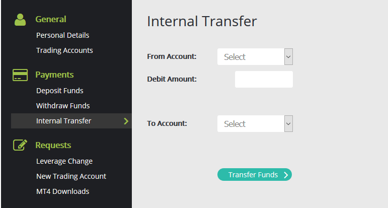 Internal funds transfer