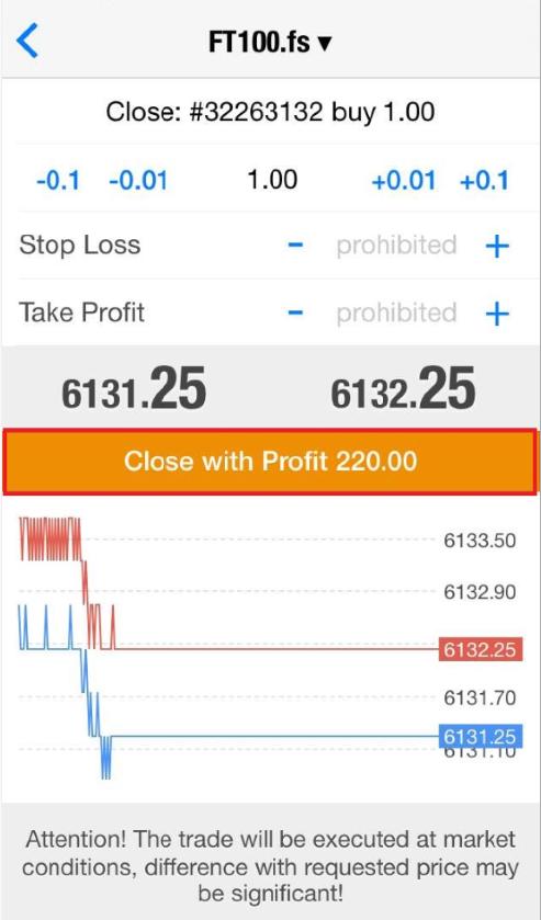 Close trade
