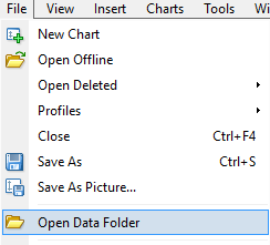 Select Open Data Folder