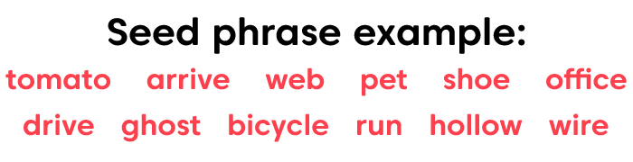 Seed phrase example