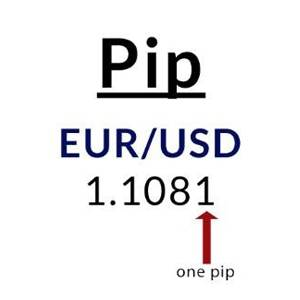 Pip example using EUR/USD
