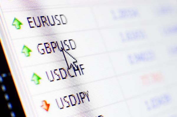 GBPUSD currency pair shown in forex trading platform